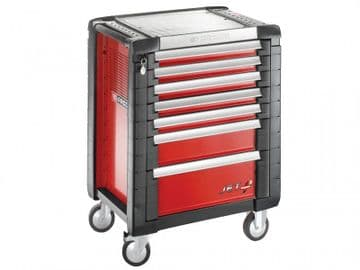 Jet.7M3 Roller Cabinet 7 Drawer Red